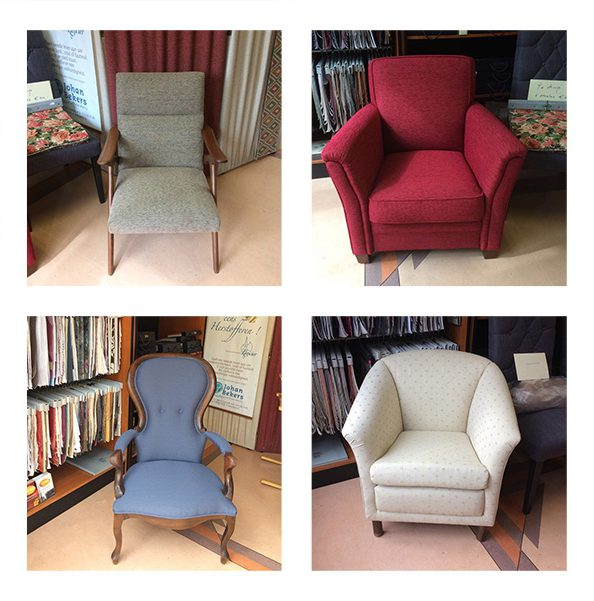 Diverse stoelen/fauteuils