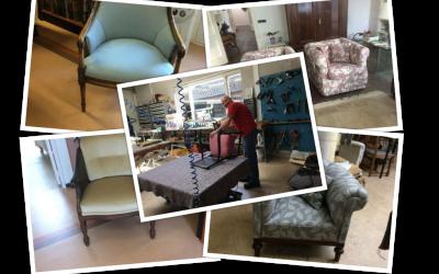Alle soorten stoffen voor klassieke stoelen en fauteuils